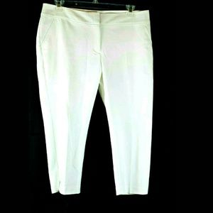 Apt 9 women's white capri pants NWOT